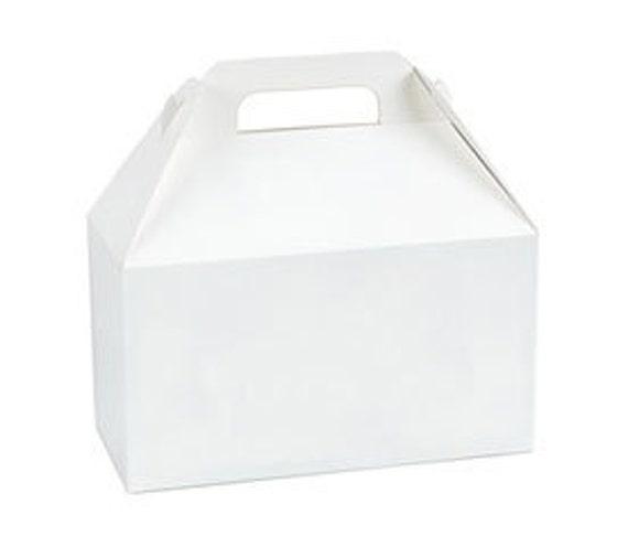 20 Large White Gable Boxes Gable Gift Box Party Favor Box 9