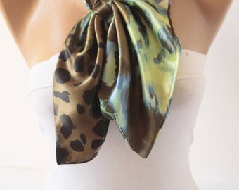 Satin Neck Scarf L Kerchief Scarf Fashion Women Accessories New Christmas Gift For Her DIDUCI
