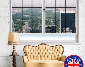 Window View of New York Central Park NYC Skyline Printed Photo Picture Roller Window Blind Block Out or Translucent Blind