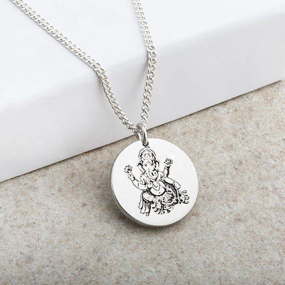 Ganesh hindu god laser engraved pendant aloadofball Image collections