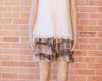 White Cotton Lace Top/VH1701TP202WT