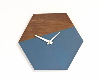 Wall Clock Wooden, Wall Clocks,  Hexagon Wall Clock, Trending Home Decor