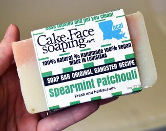 Spearmint Patchouli soap bar