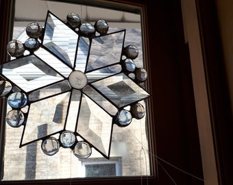 beveled glass star suncatcher