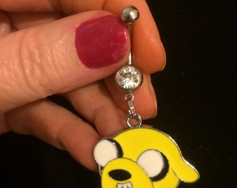 JAKE the Dog adventure time Belly Ring
