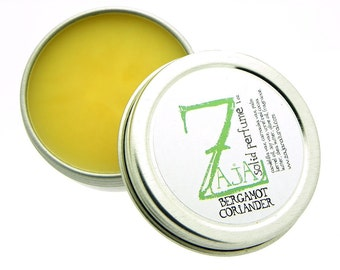 Bergamot Coriander 1 oz Solid Perfume by ZAJA Natural -Vegan