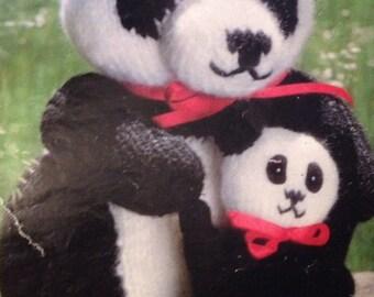 Mummy & Baby Panda Knitting Pattern