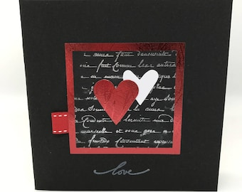 Card heart multi-occasion (wedding, Valentine's day...)