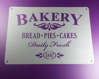 Template Bakery Bread Pies cakes Shabby-BS63