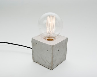 LJ Lamps alpha – concrete table lamp