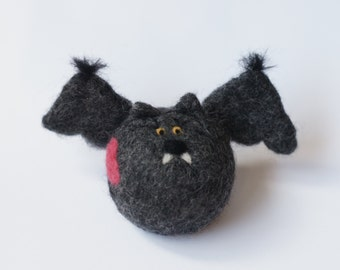Love BAT Needle Felted Wool Toy Waldorf Toy Woolen decoration