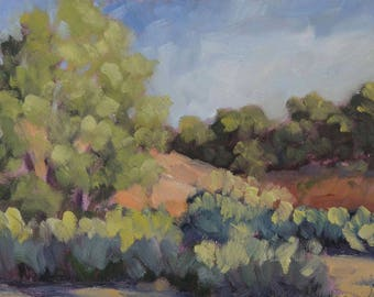 Morning at the Dale Ball Trails~ Santa Fe - New Mexico - Original Oil Landscape Painting