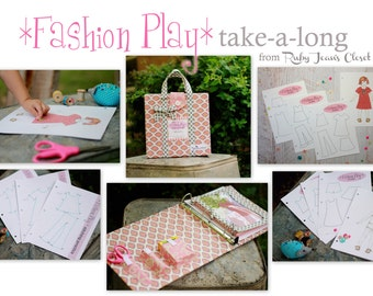 Fashion Play Combo  - Take a long child's designing/sewing tote and printables