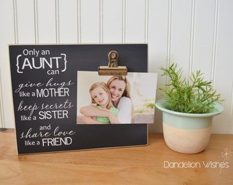 Birthday Gift for Aunt, Custom Photo Frame Auntie Gift, Auntie Picture Frame, Birthday Gift for Auntie, Personalized Aunt Gift, Aunt Frame
