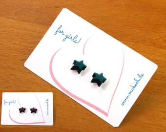 Mädchenschmuck Kinderschmuck Ohrstecker Ohrringe Sterne Silber 925