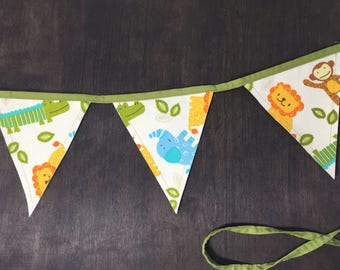 Safari Theme Birthday, Fabric Bunting Banner, Boys Room Decor, Nursery Theme, Birthday Party Supplies, Photography Prop, Kids Decor