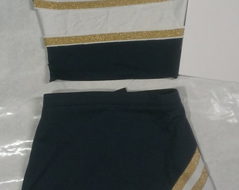 Blue No Letter Cheerleader Uniform Football Game Halloween Costume