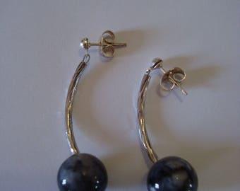Grey Tube earrings