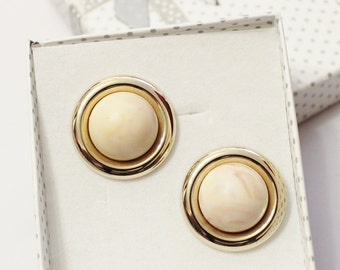 Gold Stud Earrings From The 1980's