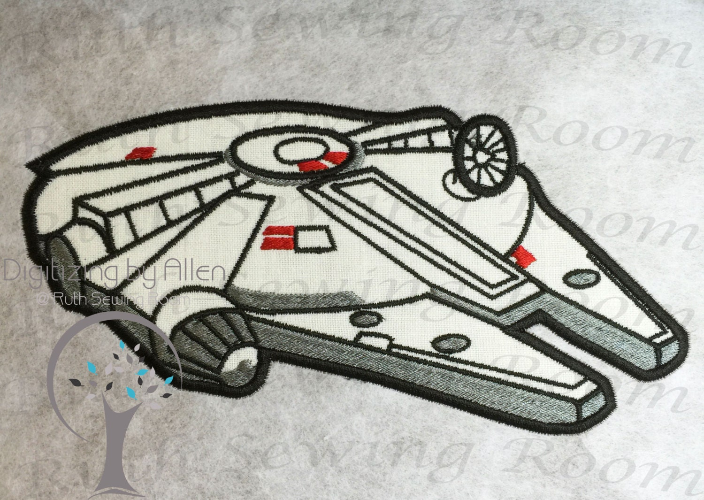 Star wars millennium falcon rebel applique applique zoom dt1010fo