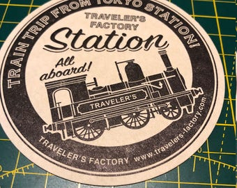 Tokyo Station Traveler's Notebook Limited Edition Letterpress Stickers | Traveler's Notebook Stickers | Limited Edition TN Stickers