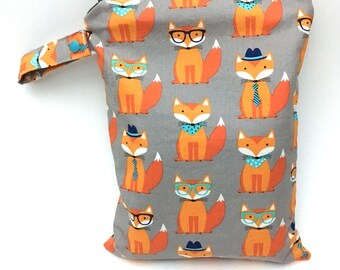 Daddy Gifts from Baby, Cloth Diaper Bag, Reusable Wet Bag, Wet Dry Bag Baby, Fox Diaper Bag, Twins Diaper Bag, Woodland Diaper Bag