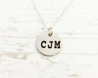 Initial Necklace - Monogram Jewelry- Graduation gift for Daughter - three letters - sterling personalized charm- Gift for Her - Mothers Day