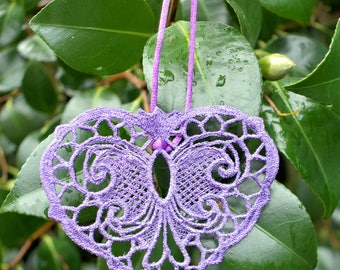 Victorian Lace Heart Ornament