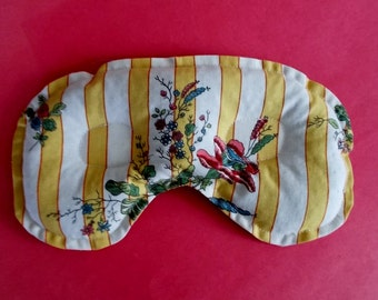 Sinus Congestion and Headache Relief Mask Hot or Cold Pack Shabby Cottage Fabric