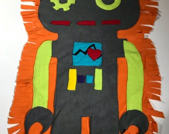 Dark Gray Giant robot Cuddle Creature security Blanket