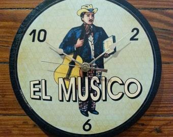 Loteria El Musico Wall Clock