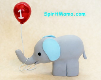 Little Elephant Baby Shower or Birthday Cake Topper