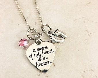 Loss of Infant/Child Memorial Necklace Miscarriage Memorial Gift
