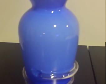 vintage vase sky blue