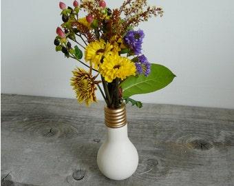 Porcelain Light Bulb Flower Vase