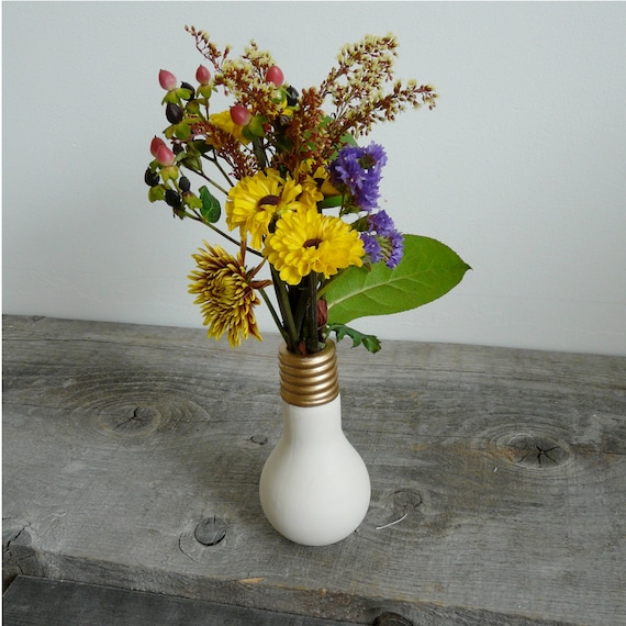 Porcelain Light Bulb Flower Vase