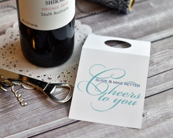 Personalized Wine Tags / Wine / Wine Hangers /  Cheers to You