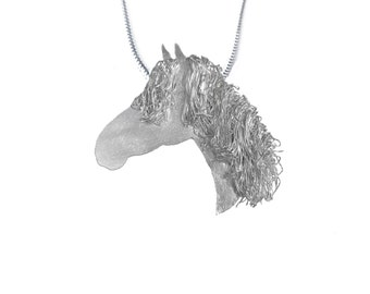 Silver horse head pendant, Horse Jewellery, Horse Jewelry, Horse Gift, Horse Present, Irish Draught Horse, Pony Jewellery, Pony Jewelry,Pony