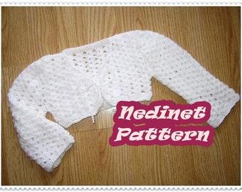 Crochet pattern, Crochet baby bolero crochet PATTERN, crochet bolero pattern, crochet cardigan, crochet baby clothing pattern, 0-24 months