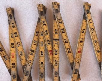 Vintage Carpenter's Rule, Ruler Lufkin Extension Rule