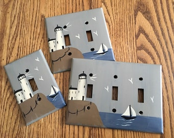 Primitive Lighthouse Switch Plate Covers