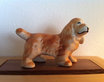 Dog Vintage Figurine, Miniature, Menagerie, Decorative Statuette, Knickknack, Collectible, FREE SHIPPING