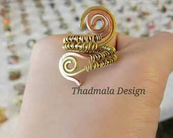 boho wires ring