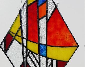 Frank Lloyd Wright stained glass suncatcher