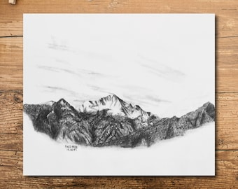 Pikes Peak Art - Mountain Art - Colorado Mountain Art - Pikes Peak Mountain Art