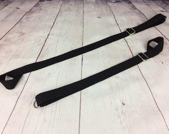Extension Bed Attachment Wrist Ankle Adjustable Restraint Black Pair