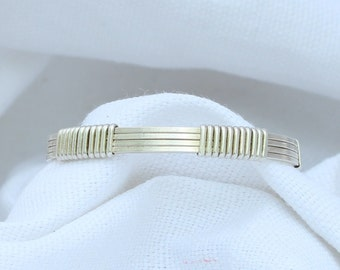 Wire Wrapped Sterling Silver Baby Bangle