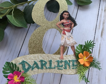 Moana inspired cake topper, moana cake topper, grown up moana decor, baby moana, moana party