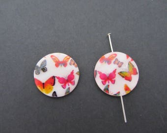 One mother of pearl beads butterfly