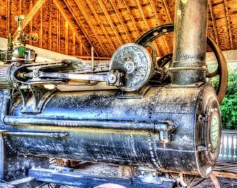 Saw mill steam engine